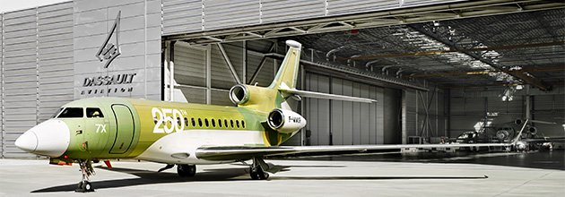Dassault Aviation rolls out 250th Falcon 7X